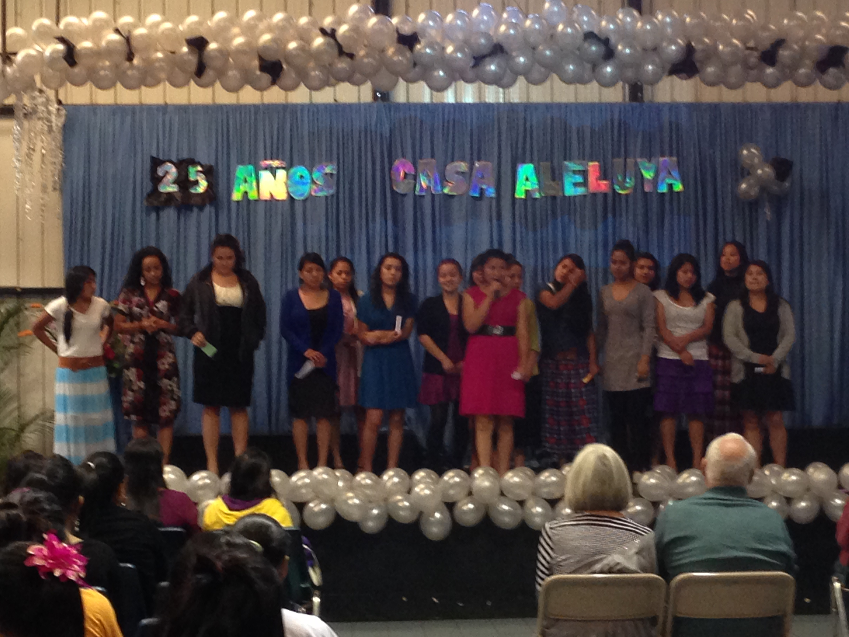 University girls singing for Dottie and me