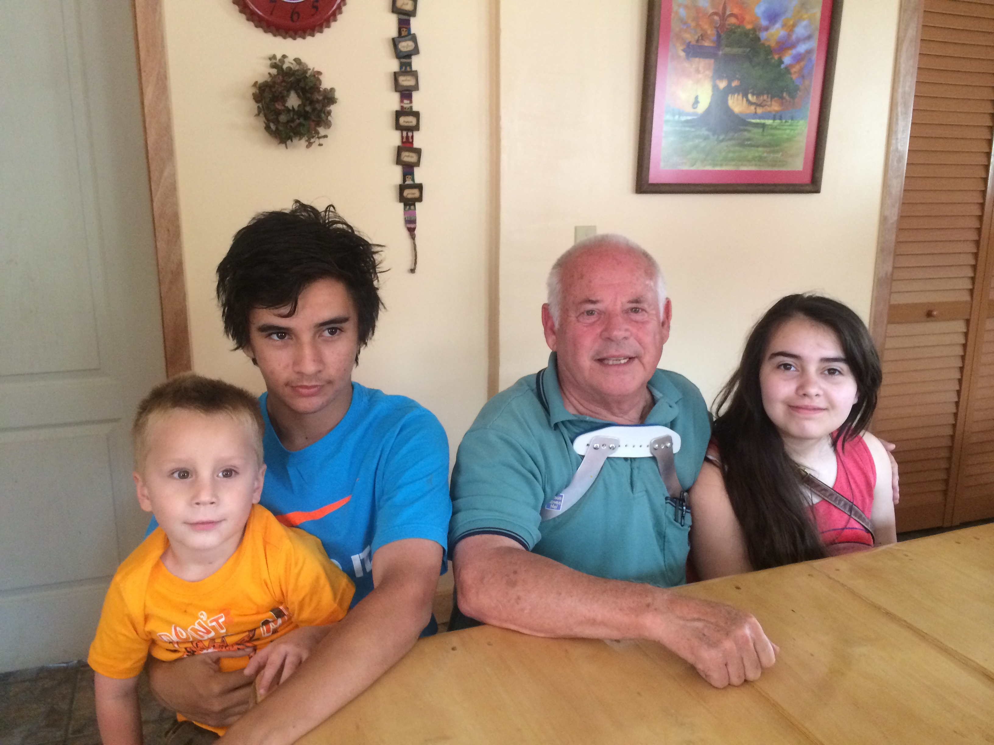 My grandchildren Ozzie, Robert and Roxie who are visiting for 2 weeks.