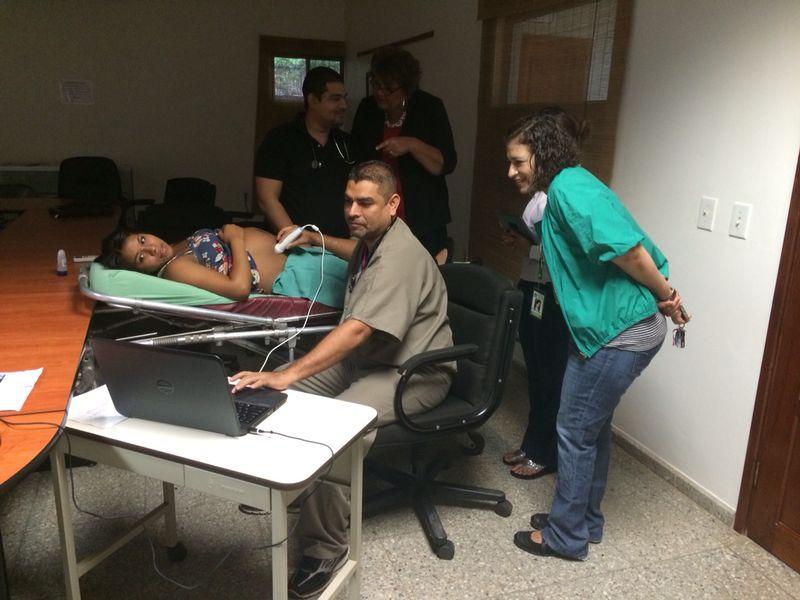 Josue in Honduras with Telemedicine