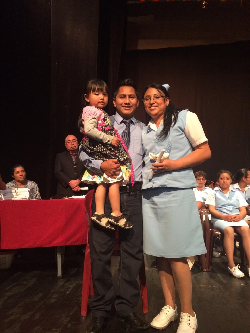 "Ezdras and daughter Deboraah are proud of ""Mami"" Candida"