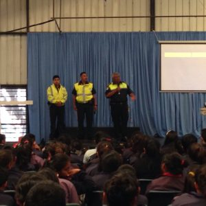 Police speaking to the children as part of Civic week