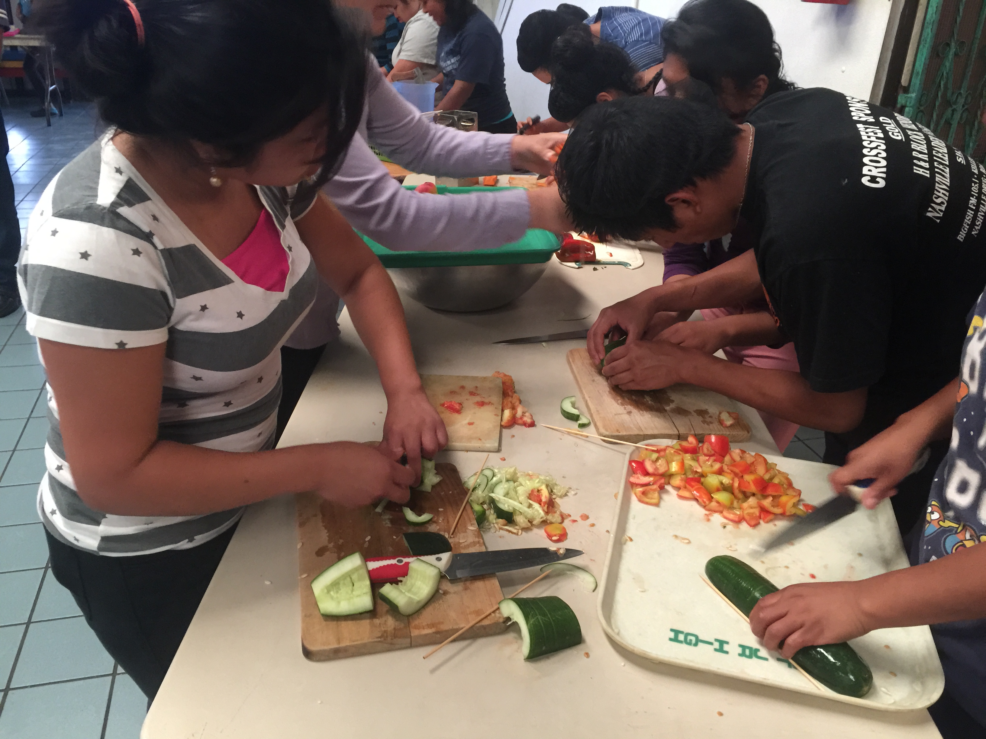 Demonstration in the cooking class