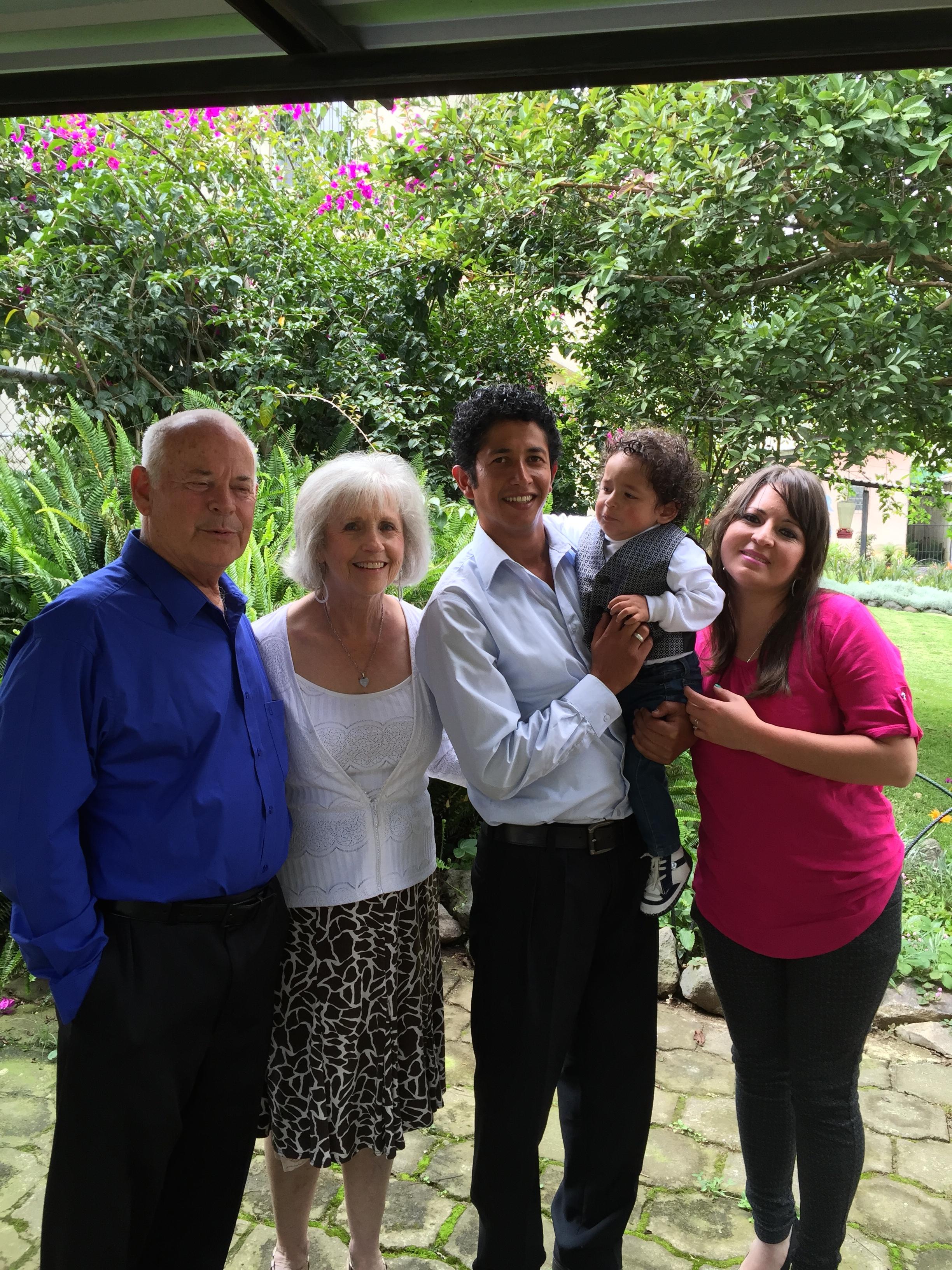 David holding Diego & Lorena with Dottie and myself