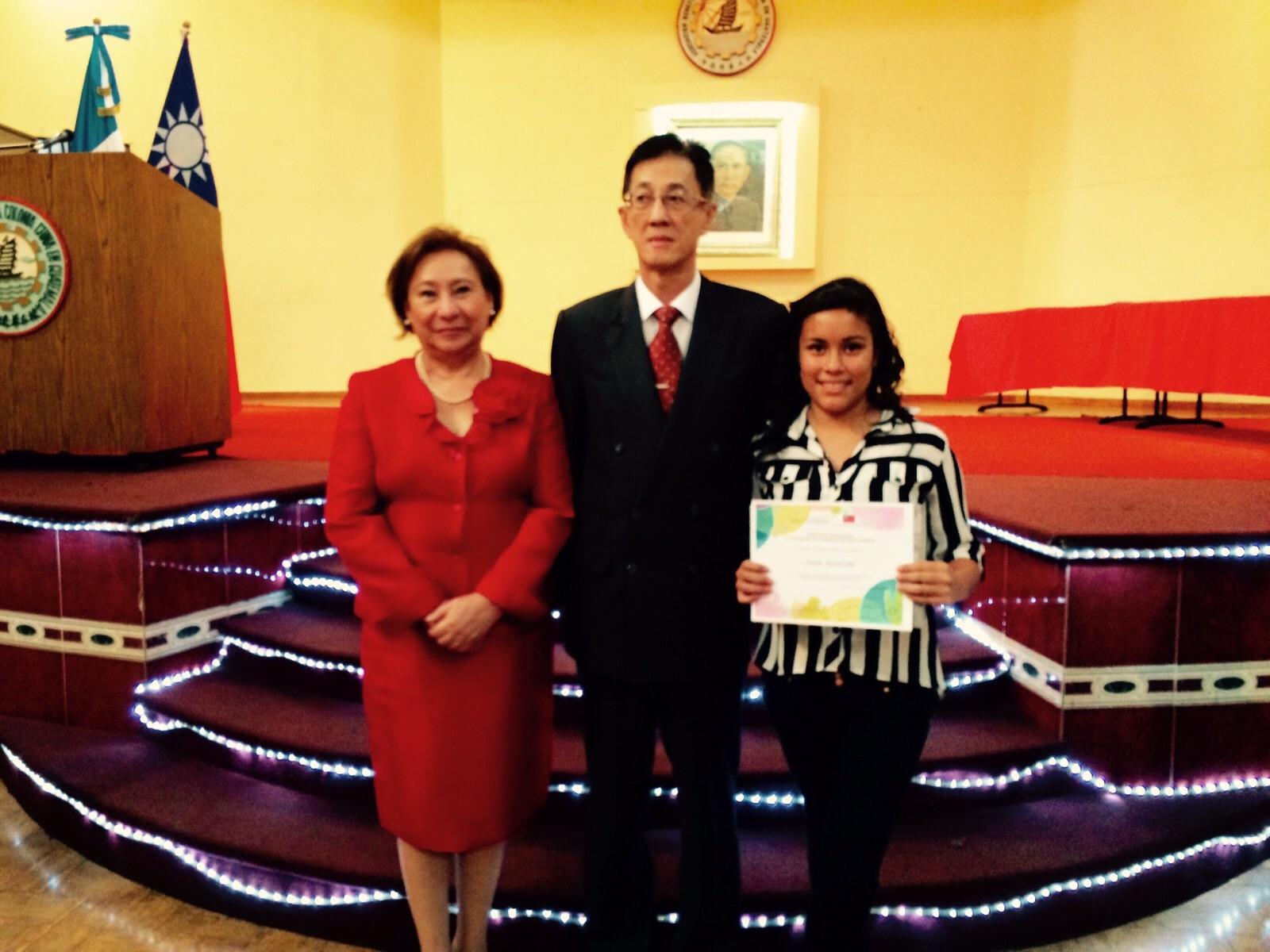 Dora with the Chinese Ambassador
