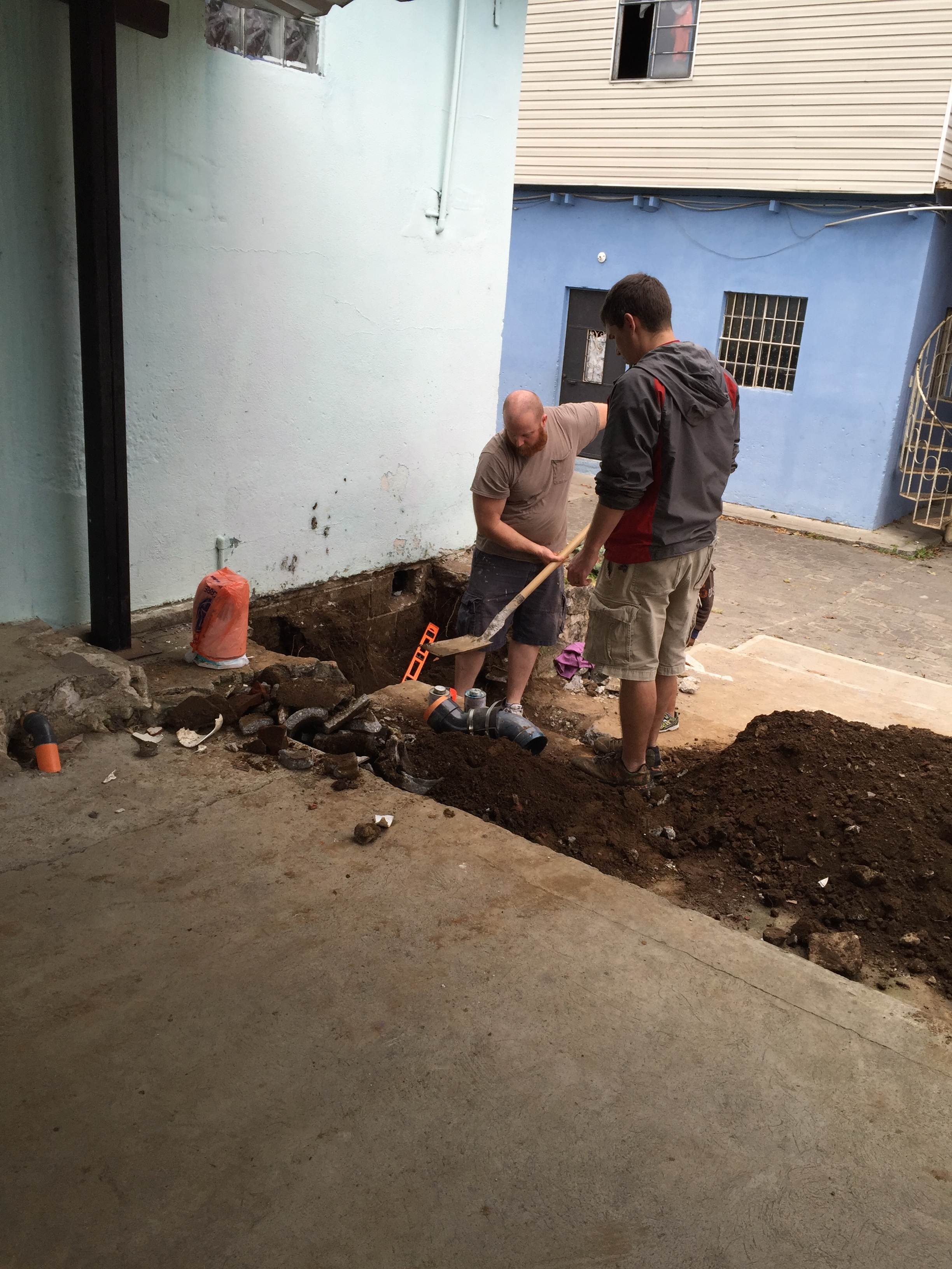 Chad and Adam in plumbing mode