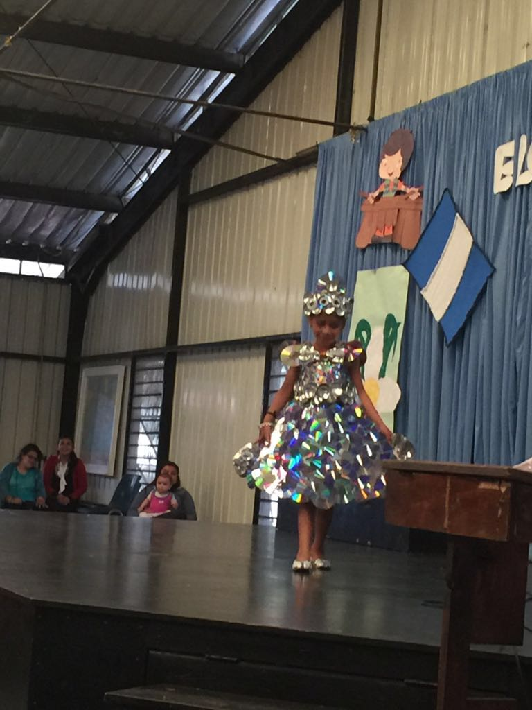 A dress made of tin cans