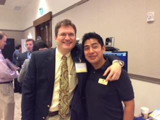 Josue' with Dr Kiley in Florida where Josue' shared telemedicine